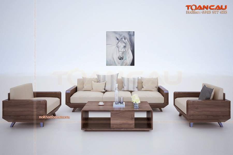 Những mẫu bàn ghế gỗ phòng khách đẹp