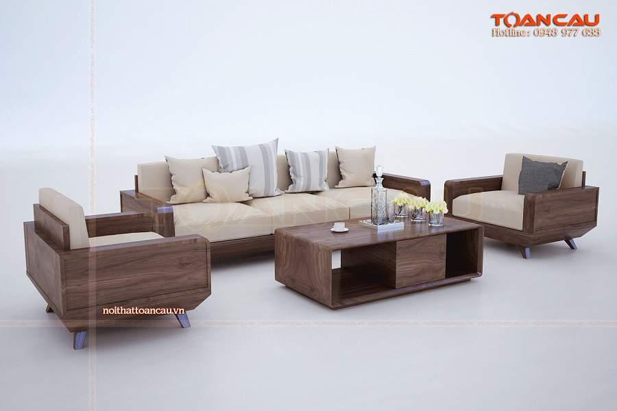 Bàn ghế gỗ óc chó  phù hợp với cả khộng gian phòng khách nhỏ