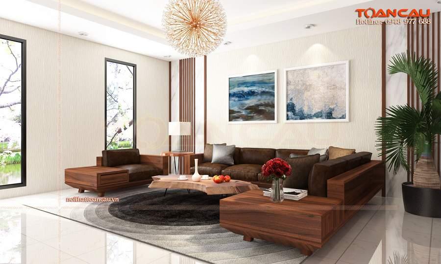 Mẫu bàn ghế gỗ đẹp cho phòng khách nhỏ