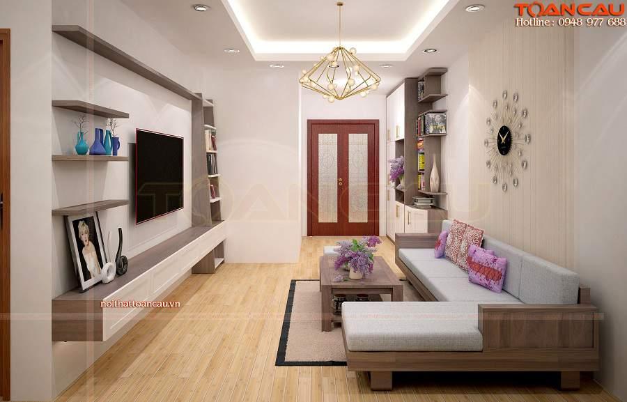 bàn ghế sa lông gỗ phù căn nhà hẹp
