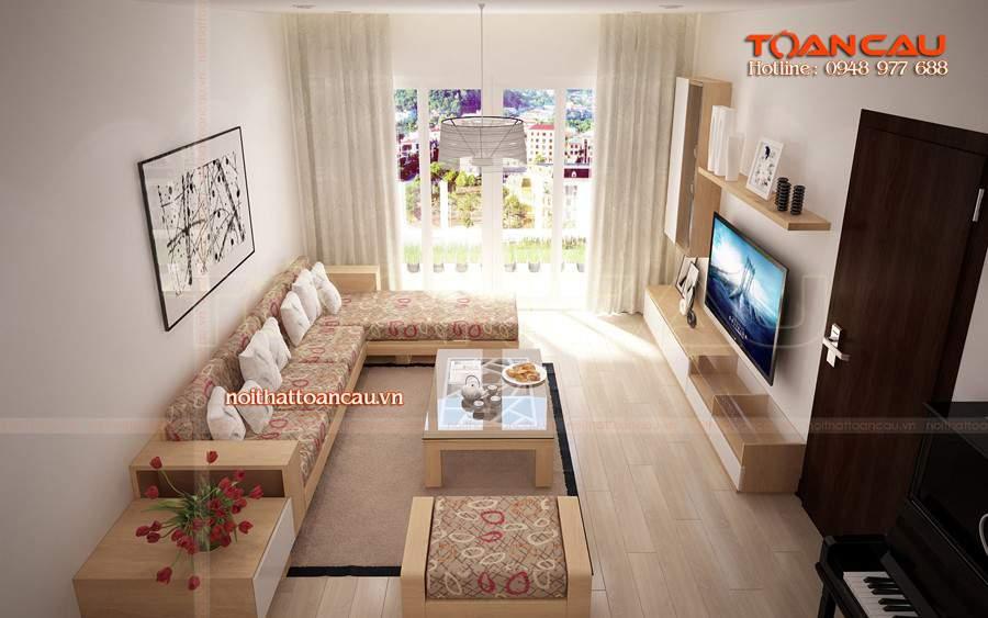 Mẫu bàn ghế sofa gỗ phòng khách – TC19146