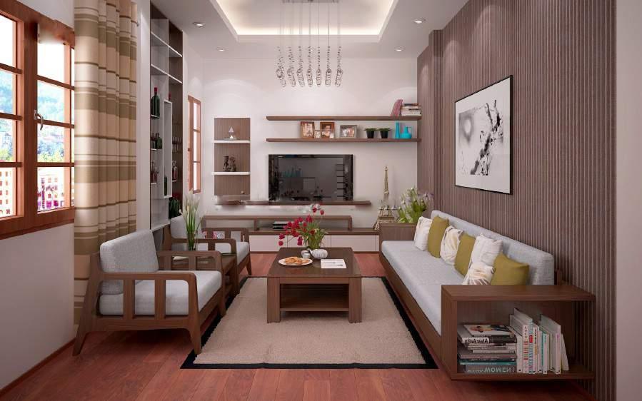 Mẫu bàn ghế sofa gỗ phòng khách – TC19147