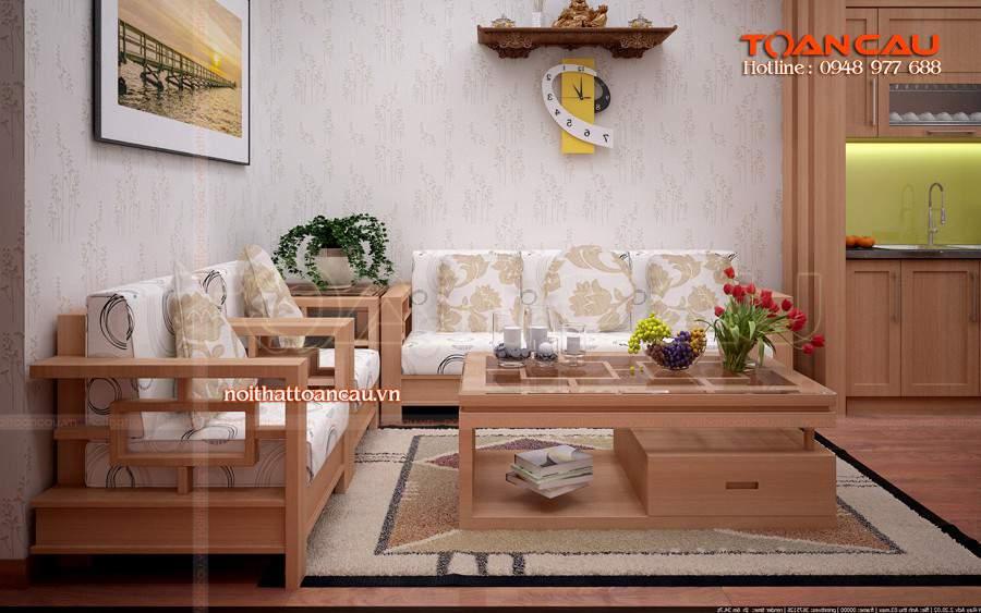 Bộ bàn ghế gỗ sồi Nga đẹp và hiện đại