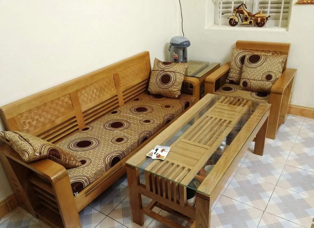 Bàn ghế sofa gỗ sồi – TC17162