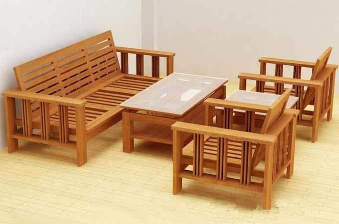 Bàn ghế sofa gỗ sồi – TC17163