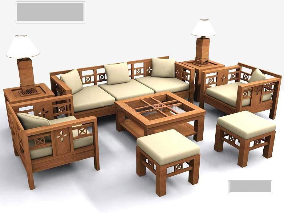 Bàn ghế sofa gỗ sồi - TC17165