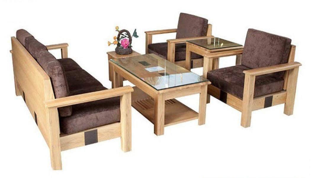 Bàn ghế sofa gỗ sồi – TC17166