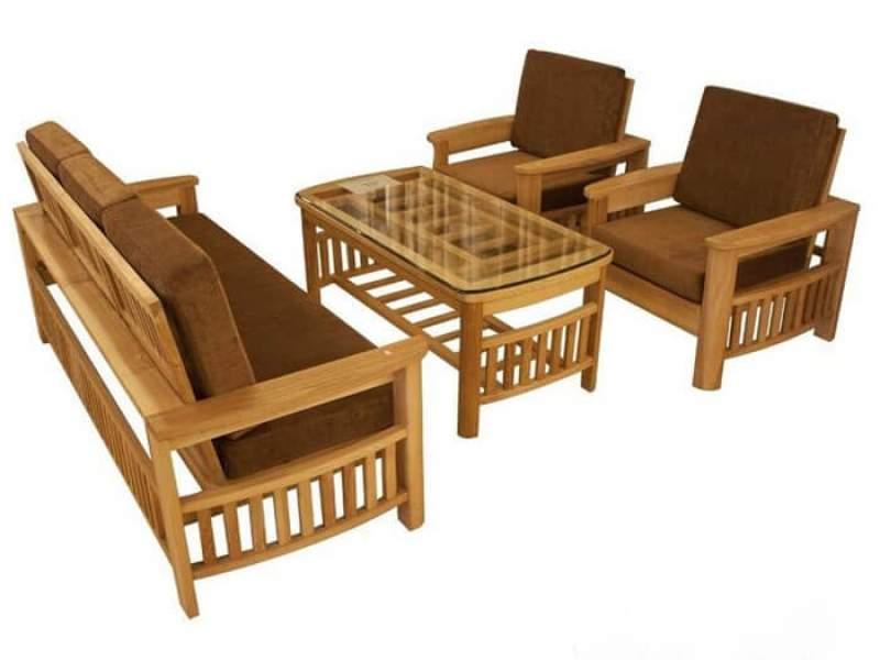 Bàn ghế sofa gỗ sồi – TC17167
