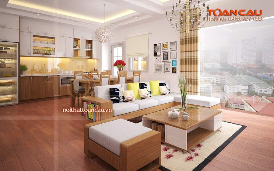 mẫu bàn ghế gỗ phòng khách đẹp