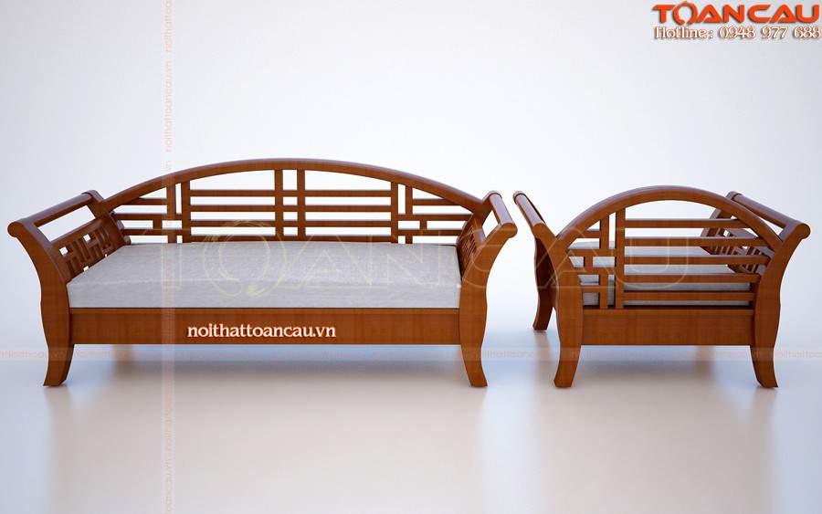 Ghế Sofa gỗ thiết kế chắc chắn