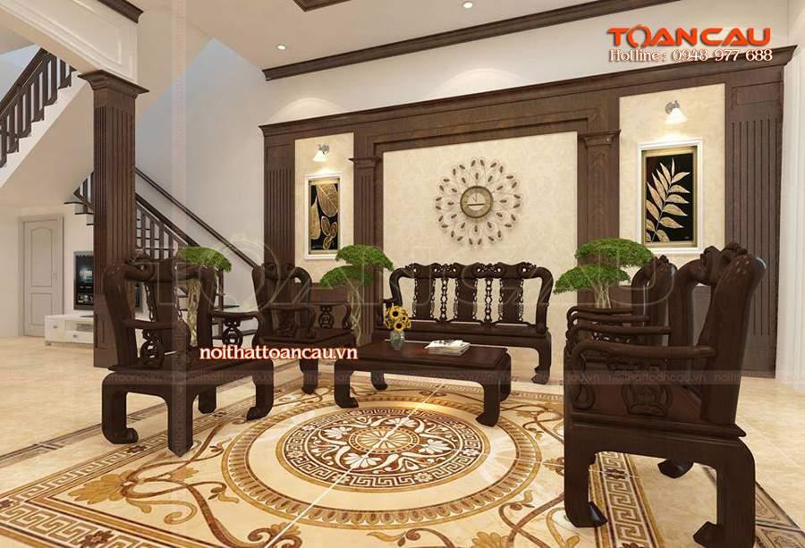Mẫu bàn ghế gỗ phòng khách hiện đại - T017 được ưa chuộng nhất hiện nay