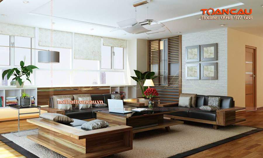 Mẫu bộ bàn ghế Sofa đẹp tại nhà khách cách trang trí và kết hợp nội thất hợp lý và hòa