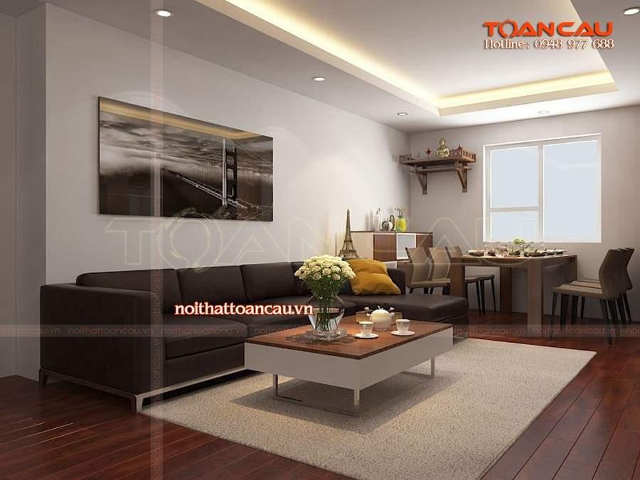 ghế sofa phòng khách kiểu chữ L thiết kế hiện đại tiện nghi và sang trọng