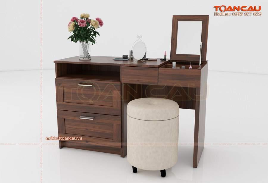 Các mẫu bàn trang điểm bằng gỗ đẹp nhất gương gấp