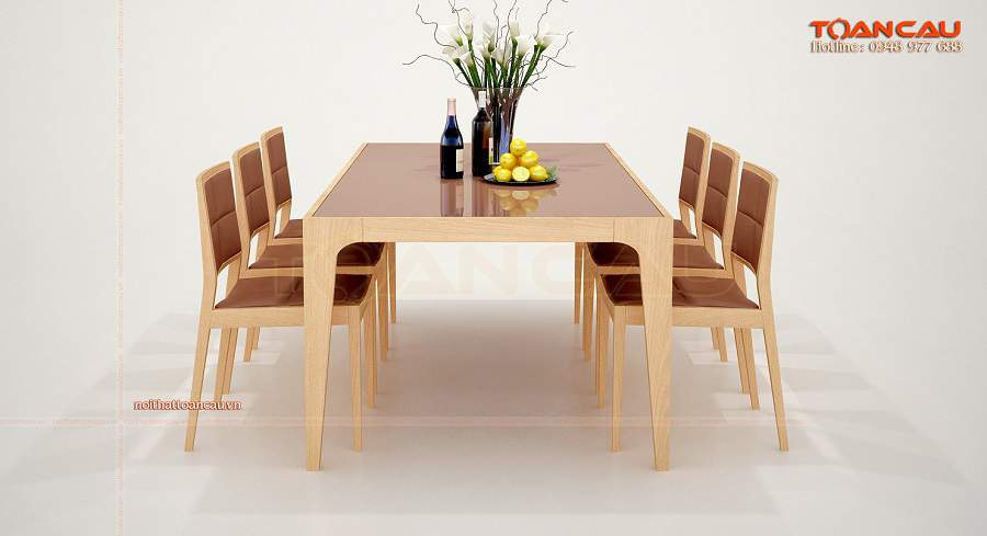 Mẫu bàn ăn đẹp gỗ tự nhiên