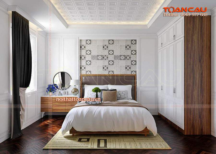 Bộ giường tủ phòng ngủ giá rẻ cho nhà hiện đại