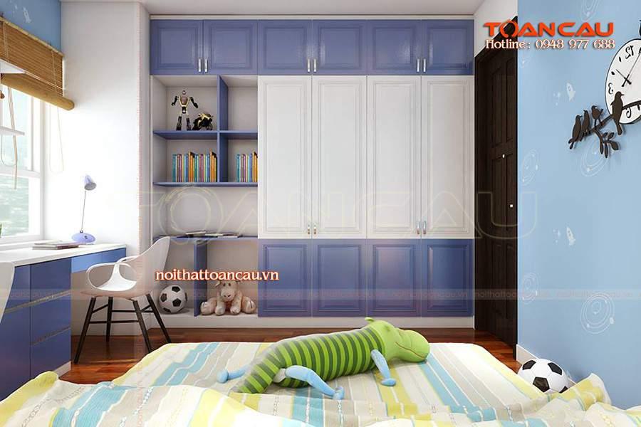 Bộ giường tủ phòng ngủ gỗ công nghiệp cho nhà xinh