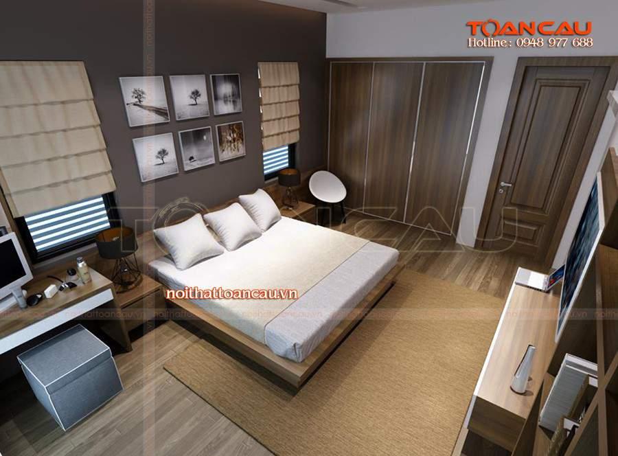 Bộ giường tủ phòng ngủ giá rẻ rất phù hợp với nhà chật chội