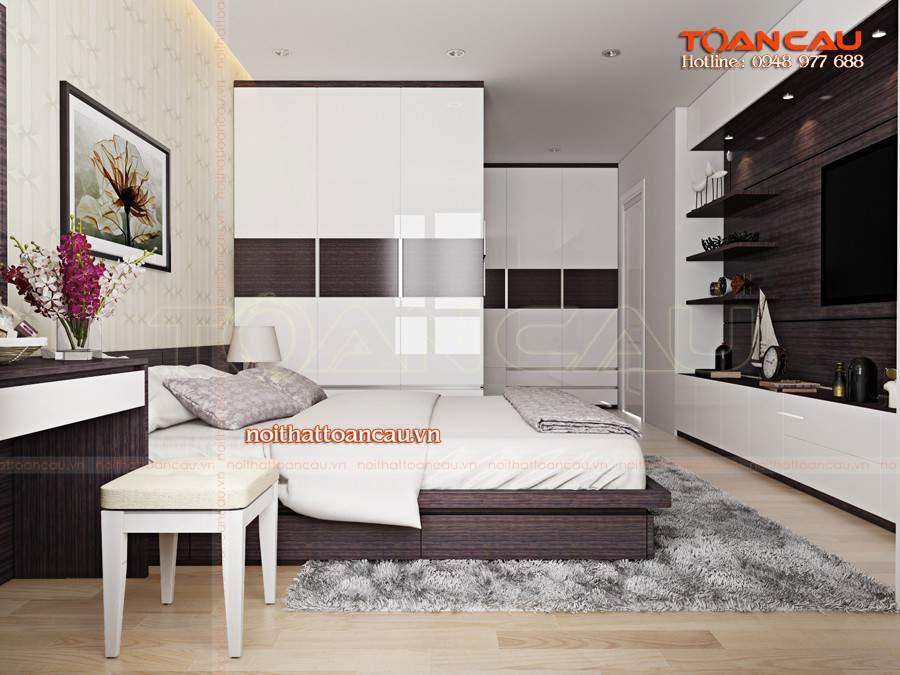 Bộ giường tủ gỗ công nghiệp cho nhà đẹp như ý