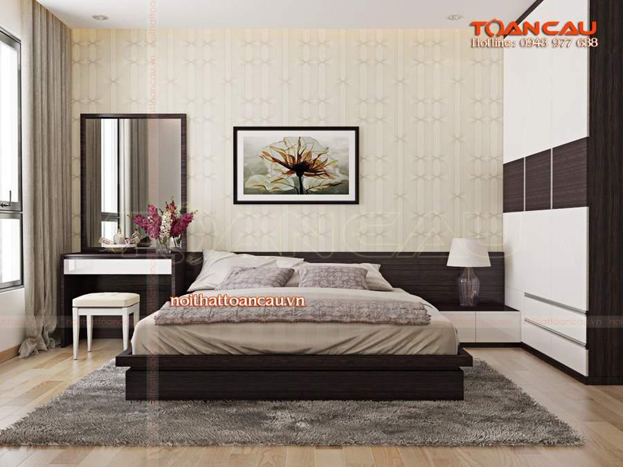 Bộ giường tủ phòng ngủ gỗ công nghiệp nhà sang