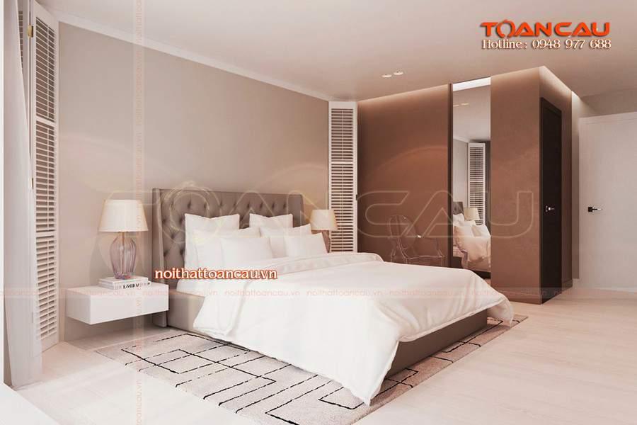 Bộ giường tủ phòng ngủ gỗ công nghiệp gam màu tươi mới