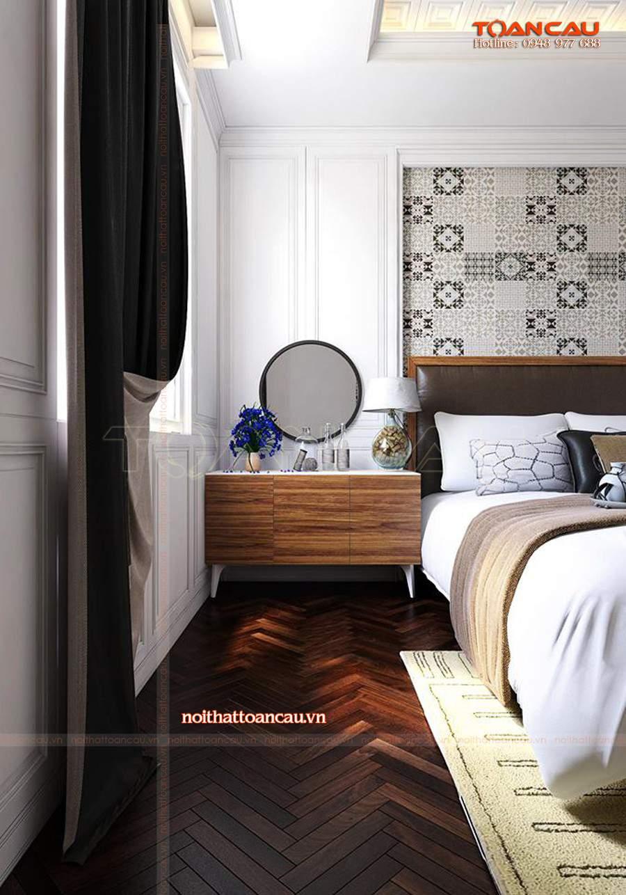 Bộ giường tủ phòng ngủ gỗ công nghiệp phong cách hiện đại