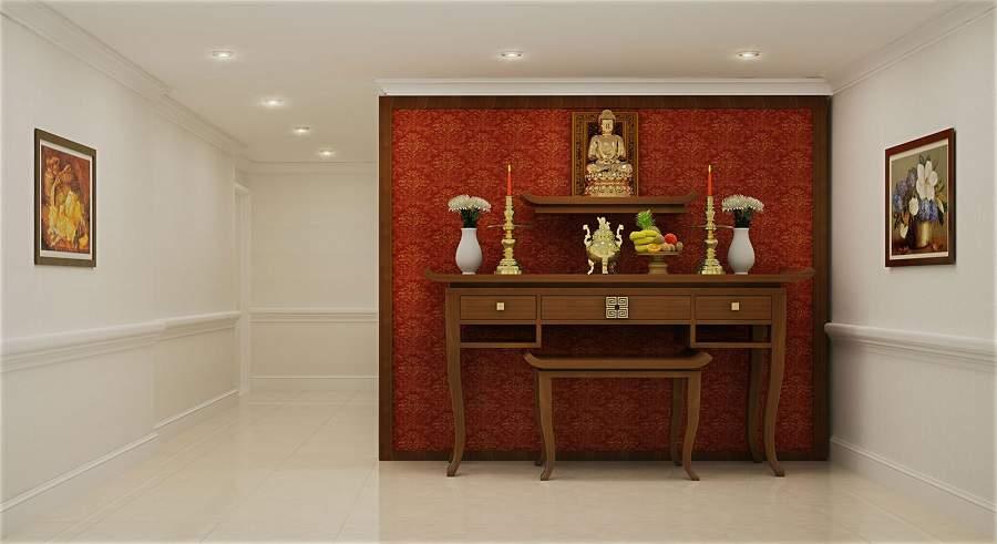 Bố trí bàn thờ trong phòng khách chung cư