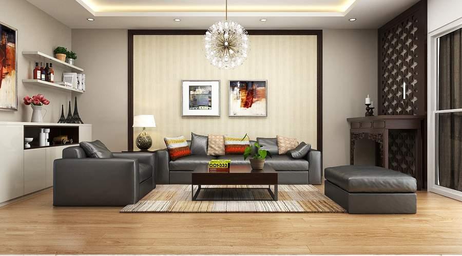 bàn thờ phòng khách chung cư