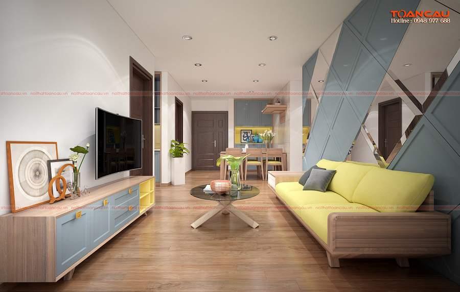 Thiết kế nội thất đa năng cho những căn phòng khách nhỏ
