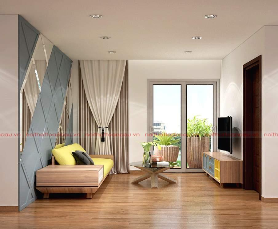 Những mẫu thiết kế phòng khách đẹp bằng gỗ óc chó phù hợp với nhiều không gian phòng khách khau nhau
