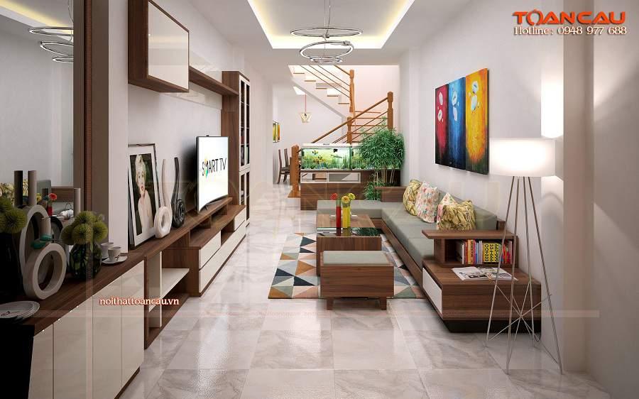 Bàn ghế gỗ phòng khách giá bình dân cho nhà hiện đại