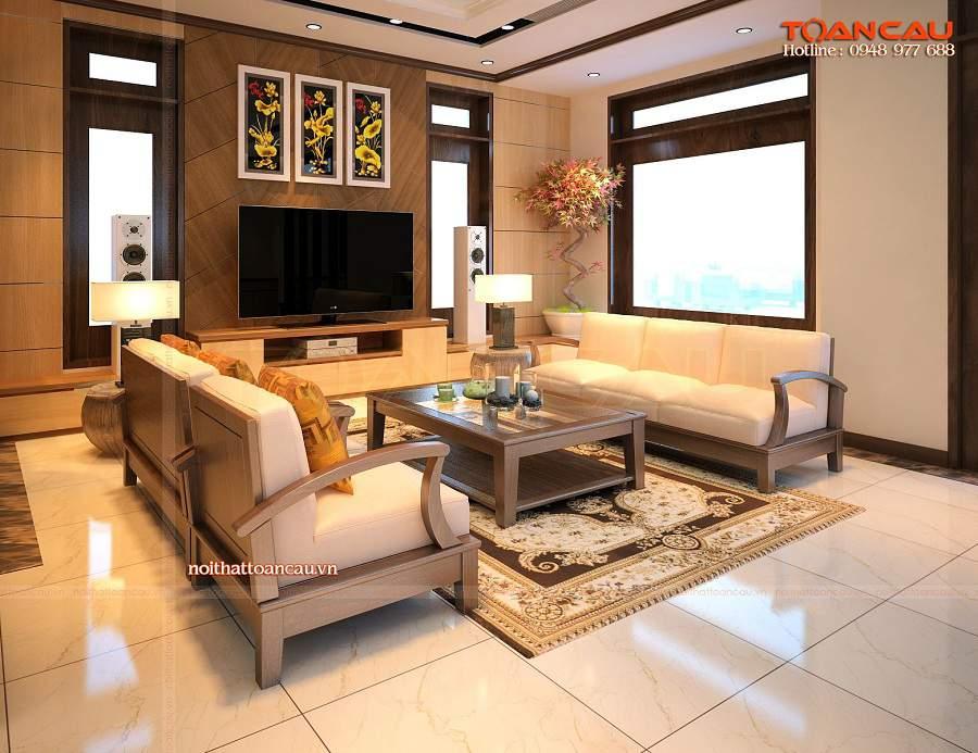 Giá bộ bàn ghế gỗ phòng khách, giá bộ bàn ghế phòng khách phải chăng