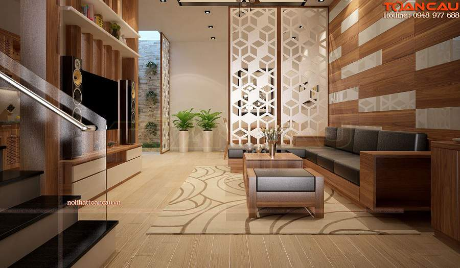 Cách bố trí bàn ghế gỗ trong phòng khách đẹp cho mọi ngôi nhà