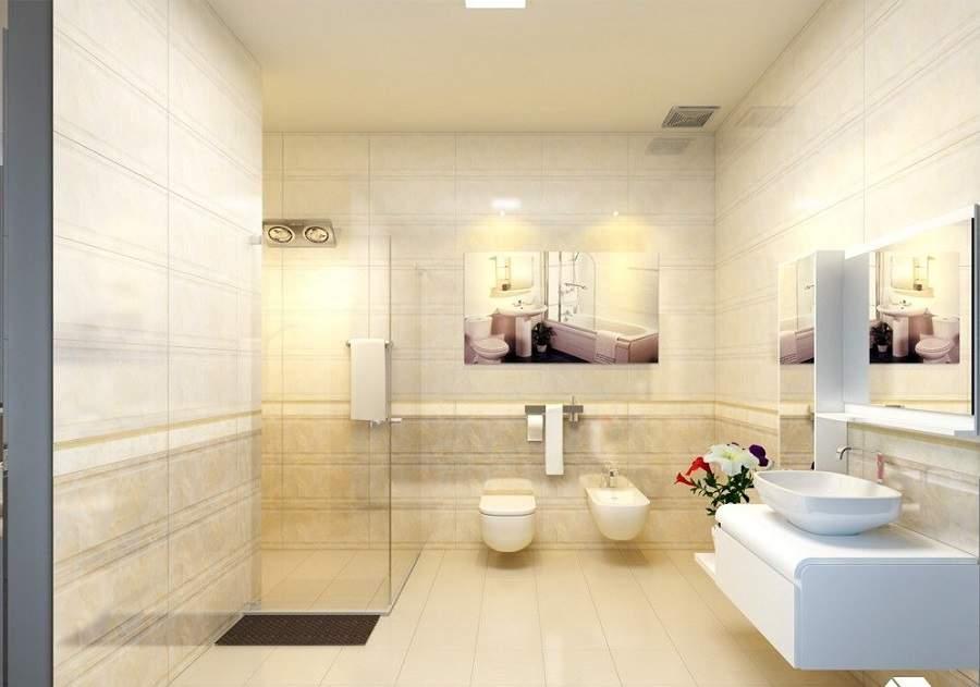 Cách bố trí nhà vệ sinh trong phòng ngủ rất tiện ích