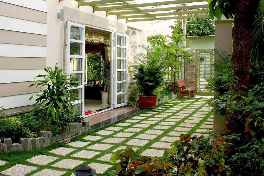 Cách chống nóng cho nhà mái bằng bằng cách trồng nhiều cây xanh