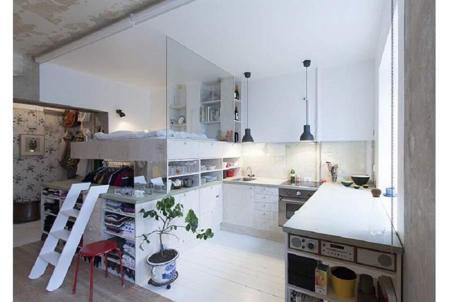 phòng ngủ cạnh bếp