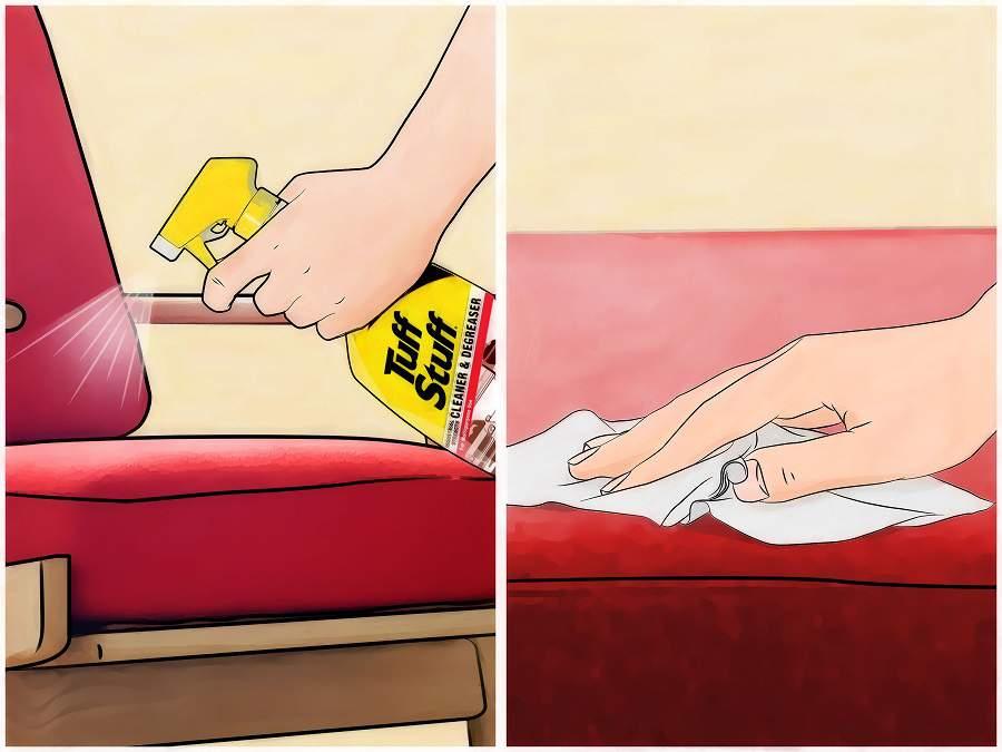 cách tẩy vết bẩn trên đồ giả da