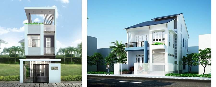 cách phối màu sơn mặt tiền nhà đẹp đơn giản