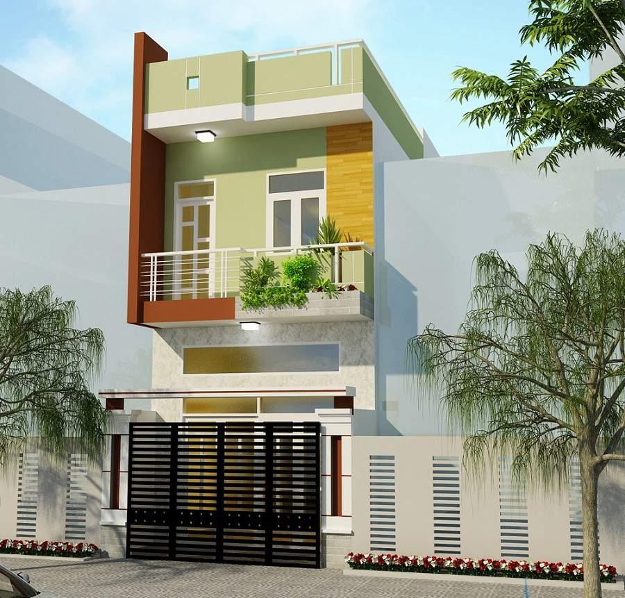 cách phối màu sơn ngoài nhà màu xanh lá cây