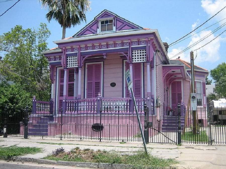 cách phối màu sơn ngoài nhà màu tím
