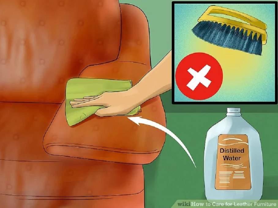 Cách vệ sinh sofa da thật