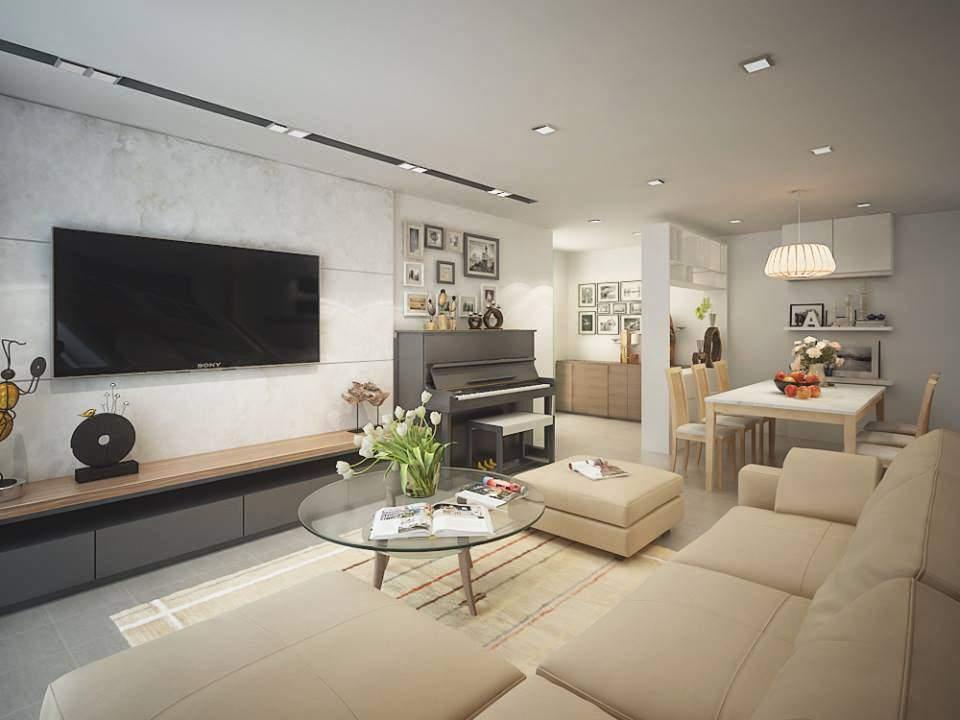 Không nên dùng trần giả trong thiết kế nội thất chung cư giá rẻ
