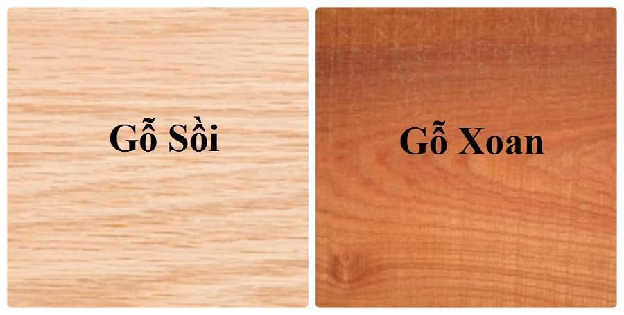 Gỗ Xoan đào khác với màu gỗ sồi