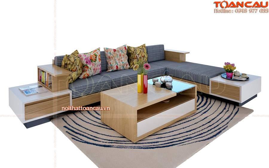 Bộ bàn ghế sofa gỗ chữ L – TC 110