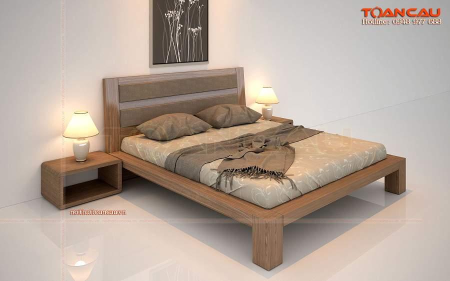 Giường ngủ gỗ đẹp giá rẻ tại hải phòng hiện đại