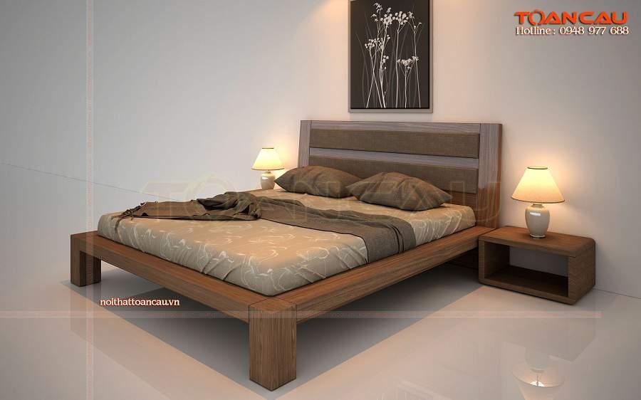 Các mẫu giường gỗ óc chó đẹp