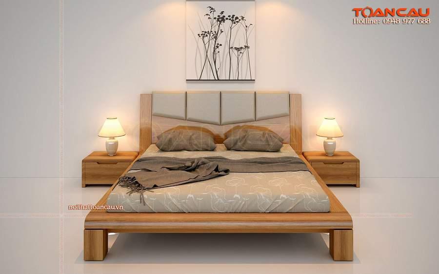 Mẫu giường ngủ gỗ Hàn Quốc đẹp giá rẻ