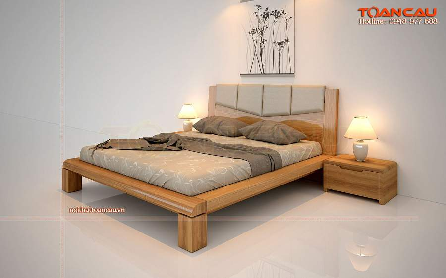 Mẫu giường ngủ thiết kế đơn giản nhỏ đẹp