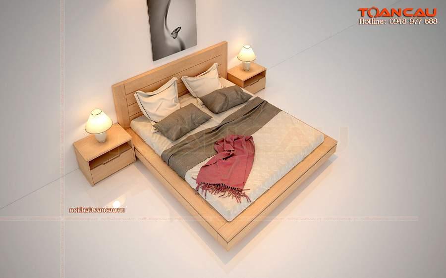 Giường ngủ gỗ sồi tự nhiên giá rẻ tại tphcm