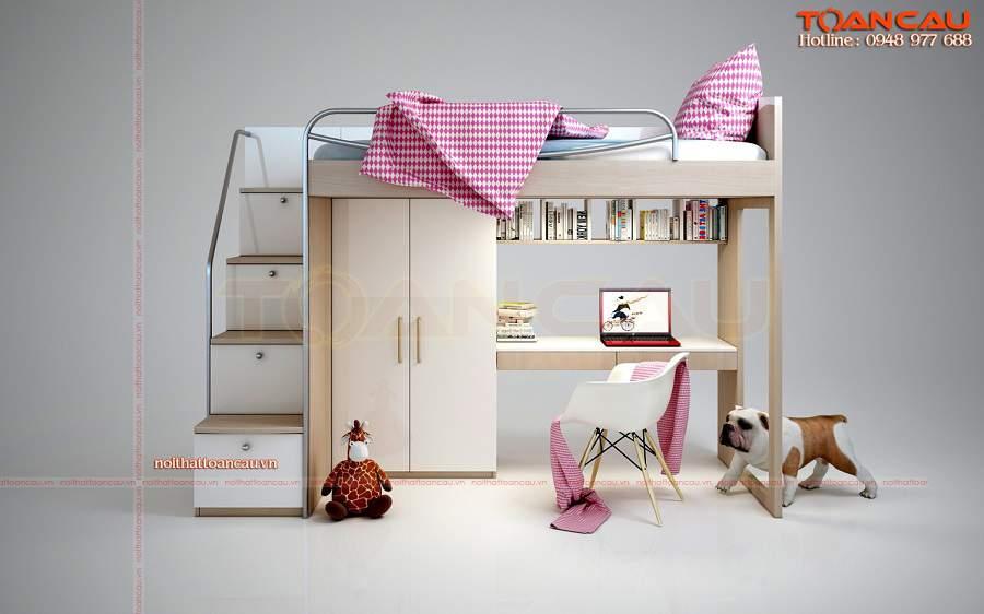Giường kết hợp bàn học và tủ đồ TC1111B